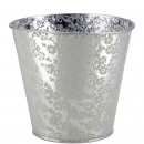 Metal tub Rosi, D11.5cm, H10cm, zinc-green